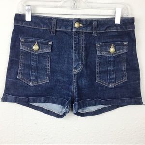 Topshop Moto Rolled Cuff Jean Shorts Size 30